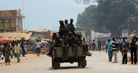 Patrouille de militaires, Bangui, janvier 2013 /AFP
