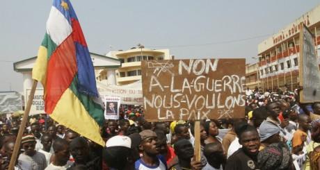 Des supporteurs de l'ex-président Bozizé, Bangui, janvier 2013 / REUTERS