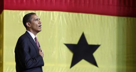 Barack Obama, lors de sa visite au Ghana, 2009 / REUTERS