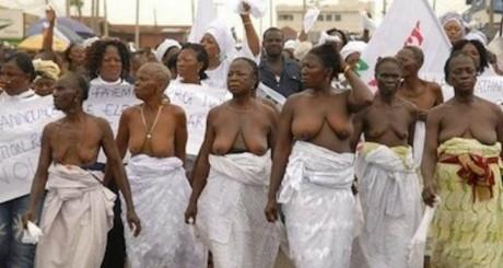 Manifestation de femmes à Ogun au Nigeria le 24 décembre 2012. DR