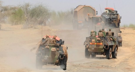 Une patrouille de l'armée française, Tombouctou, février 2013 / AFP
