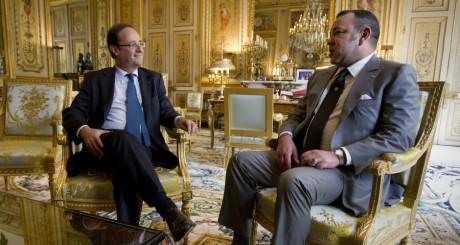 François Hollande et Mohammed VI à l'Elysée, 24 mai 2012 / AFP