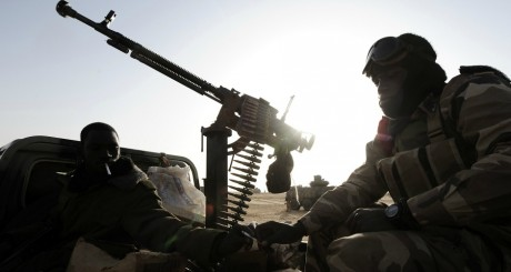 Soldatas maliens, Bourem, février 2013 / AFP
