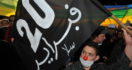 Une manifestation du mouvement du 20-Février, Rabat, février 2012 / AFP