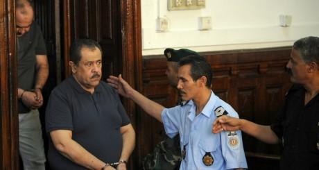 Moncef Trabelsi au tribunal de Tunis le 10 août 2011. FETHI BELAID / AFP