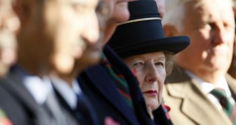 Margaret Thatcher lors d'une cérémonie à Londres le 9 novembre 2007. REUTERS/Toby Melville