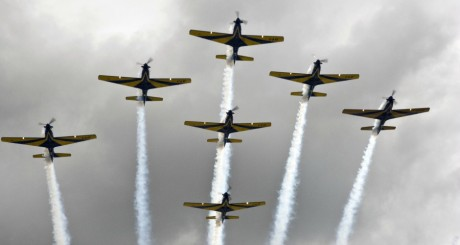 Avions de chasse de contruction brésilienne, mars 2013 / AFP