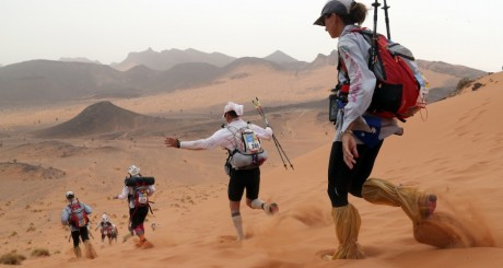 Marathon des Sables, Ouarzazate, 9 avril 2013 / AFP