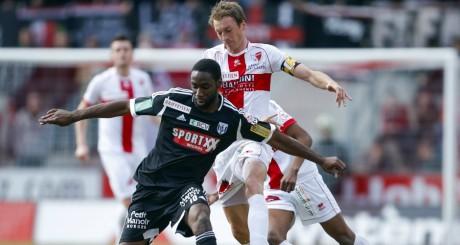 Chris Malonga, lors d'un match FC LausanneVs FC Sion, Sion, mars 2013 / REUTERS
