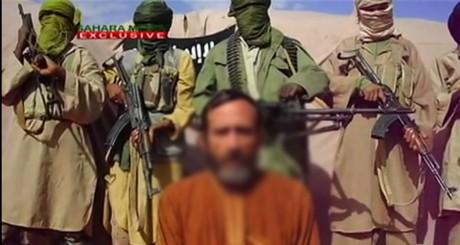 Daniel Larribe, l'un des otages enlevés au Niger, dans une vidéo diffusée par les ravisseurs le 10 août 2012.