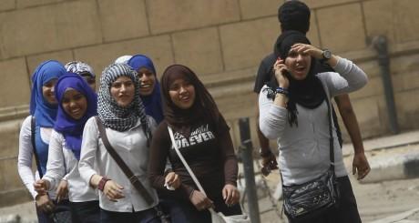 Des femmes manifestent contre le harcèlement sexuel en Egypte.REUTERS/Amr Abdallah Dalsh