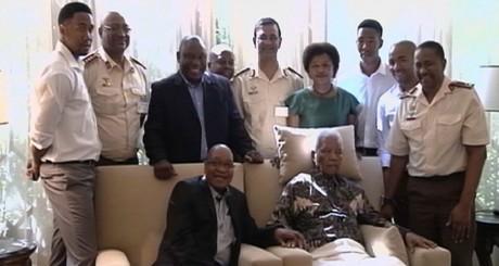 Capture d'écran vidéo images de Mandela AFP/SABC