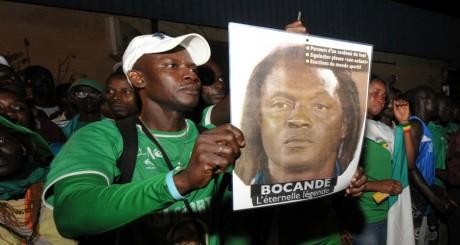 Effigie de Bocandé lors de ses obsèques à Dakar, mai 2012 / AFP