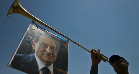 Effigie de l'ancien présidet égyptien Hosni Moubarak, Le Caire, mai 2013 / AFP