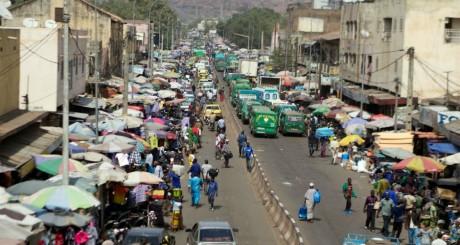 Le boulevard du Peuple à Bamako, janvier 2013 / AFP