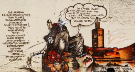 Affiche murale humoristique contre la corruption, Kenya, avril 2012 / REUTERS