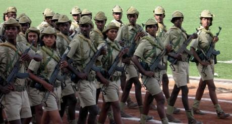 Soldats érythréens lors de la fête d'Indépendance à Asmara, en 2007 / REUTERS