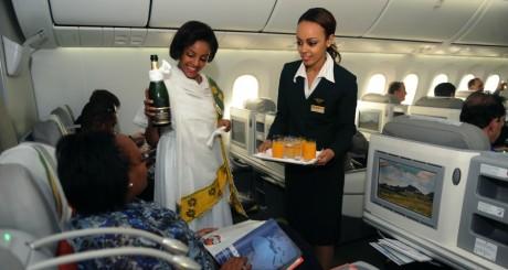 Service à bord d'un appareil éthiopien / AFP