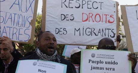Manifestation des subsahariens en soutien à Camara Laye, le 18 décembre 2012 / REUTERS