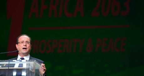 François Hollande lors des 50 ans de l'Union africaine, Addis Abeba / AFP
