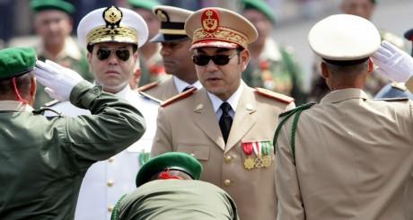 Mohammed VI lors des cérémonies des 50 ans des Forces armées royales, mai 2006 / AFP