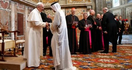 Le pape François lors d'une audience diplomatique, en mars 2013 / REUTERS