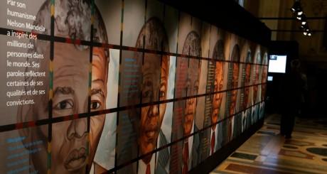 Exposition en l'honneur de Mandela, Paris, mai 2013 / AFP