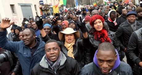 Une manifestation de la diaspora malienne, Montreuil, janvier 2013 / AFP