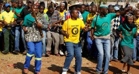 Grève des mineurs à Marikana, mai 2013 / REUTERS