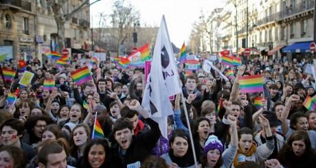 Manifestation en faveur du Mariage pour tus, paris, janvier 2013 / Reuters