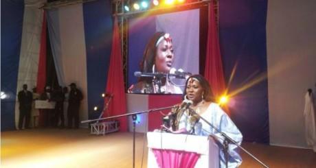 Aïssata Cissé le 15 juin 2013, lors de son investiture. Bamako. Photo officielle de campagne.