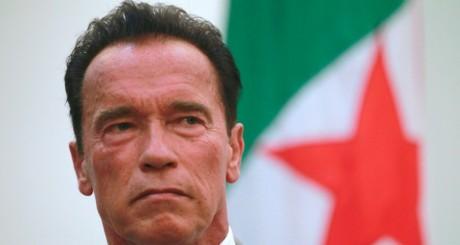 Arnold Schwarzenegger en visite en Algérie, le 25 juin. REUTERS/Louafi Larbi