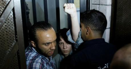 Marguerite Stern, l'une des trois Femen, après sa sortie de prison, le 27 juin 2013 / REUTERS