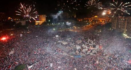 Rassemblements place Tahrir, 3 juillet 2013 / Reuters