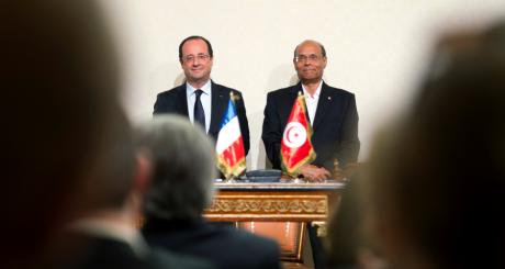 François Hollande et Moncef Marzouki, Tunis, 4 juillet 2013 / AFP