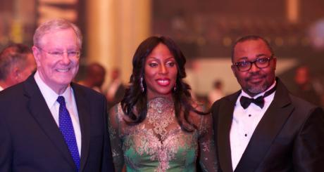 Mo Abudu (centre), Lagos, 30 juin 2013 ©EbonyLifeTV
