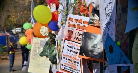 Messages de soutien à Nelson Mandela, Pretoria, 8 juillet 2013 / Reuters