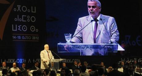 Abdelillah Benkirane lors d'un meettin du PJD, Rabat, juillet 2012 / AFP