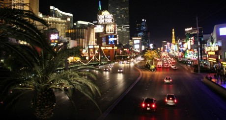 Las Vegas by night, by aresauburn via Flickr CC.