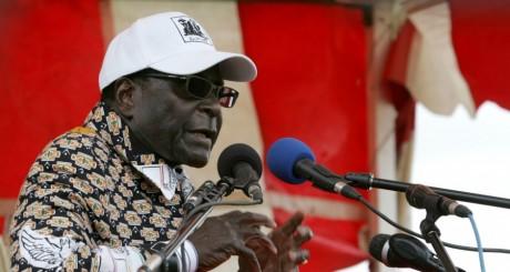 Robert Mugabe en campagne électoraleà Nzvimbo, 11 juillet 2013 / AFP