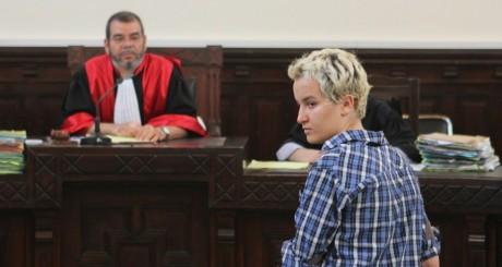 Amina Sbouï au tribunal de Sousse, le 4 juillet 2013 / REUTERS