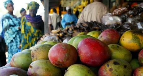 Etal de mangues sur un marché de Dakar, 2006 / REUTERS