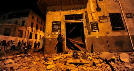 Les débris du bâtiment judiciaire après les explosions, 28 juillet 2013 / REUTERS