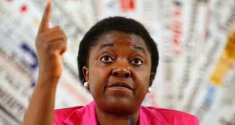 Cécile Kynge Kashetu, la ministre italienne de l'Intégration, juin 2013 / Reuters