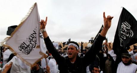 Manifestation salafiste à Kairouan, 2012 / REUTERS