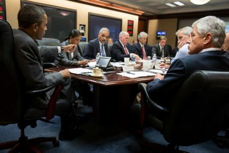 Réunion sur la situation en Egypte à la Maison blanche le 4 juillet 2013.  lREUTERS/Pete Souza/White House/Handout