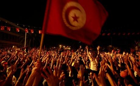 Manifestation anti-gouvernement, le 28 juillet à Tunis. REUTERS/Anis Mili