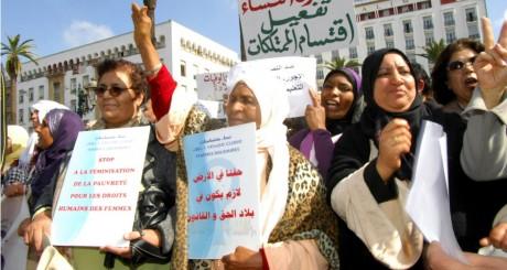 Marche en faveur des droits des femmes à Rabat, 20 février 2012 / REUTERS