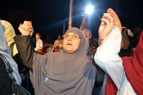 Naglaa Ali Mahmoud, la femme de Mohamed Morsi, le 12 mai 2012 au Caire.