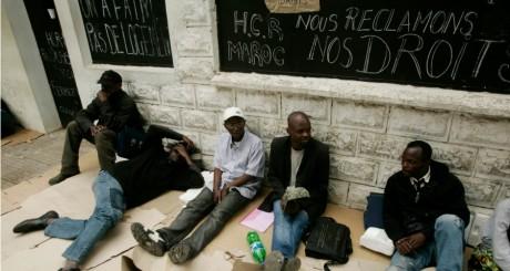 Sit-in de réfugiés africains à Rabat, 2007 / REUTERS